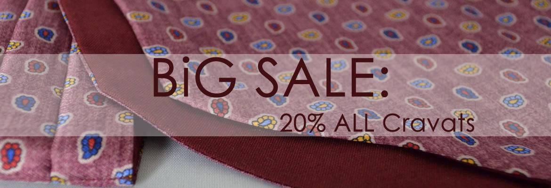 Big Sale: 20% All Cravats