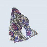 Fine Silk Ornate Paisley Design Self-tie Bow tie in Light Yellow