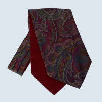 Fine Silk Paisley Cravat in Red