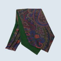 Fine Silk Paisley Cravat in Green