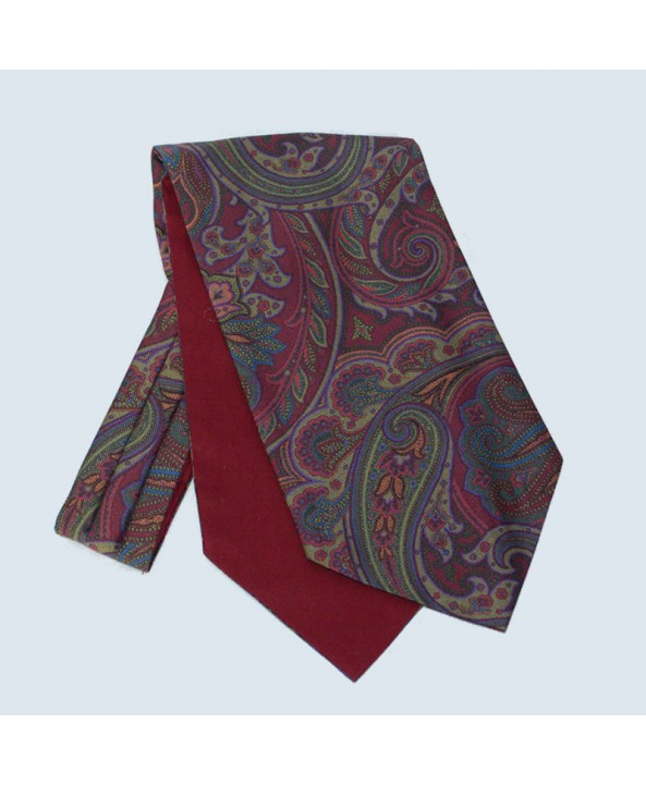 Fine Silk Paisley Cravat in Rust