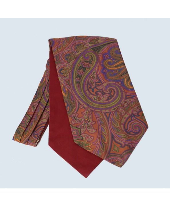 Fine Silk Duck Design Paisley Cravat in Bronze