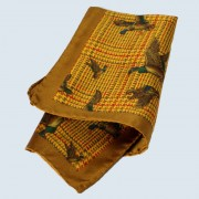 Fine Silk Fancy Duck Design Handkerchief with a Golden Frame