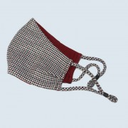 Face Mask - English Worsted Wool Design in Red and Navy