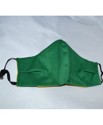 Forest Green 100% Cotton Washable and Reuseable Face Mask - Made in UK