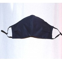 Navy Blue 100% Cotton Washable Mask - Made in UK