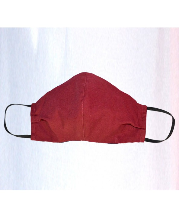 Wine Red 100% Cotton Washable Mask - Made in UK