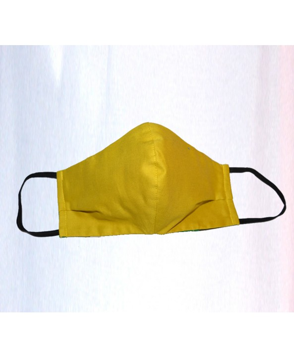 Golden Yellow 100% Cotton Washable Mask - Made in UK