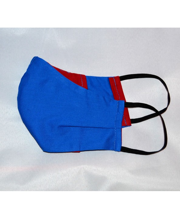 Royal Blue 100% Cotton Washable Mask - Made in UK