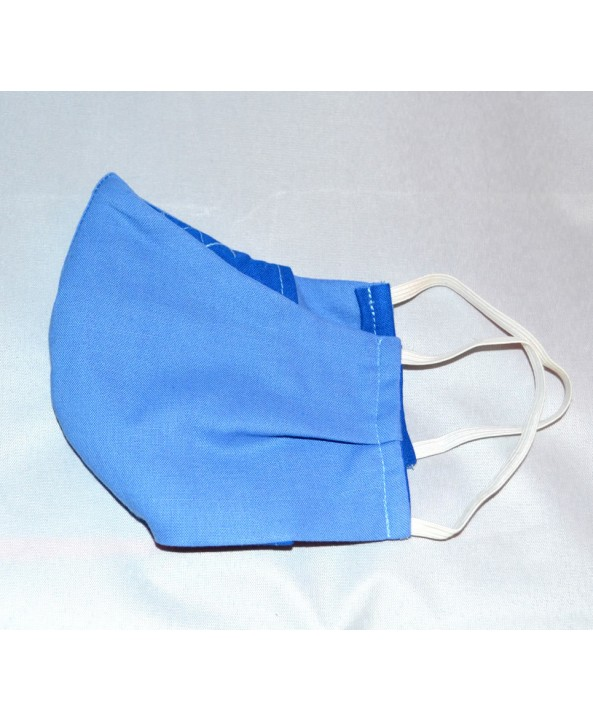 Powder Blue 100% Cotton Washable Mask - Made in UK