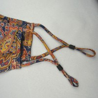 Paisley Yellow and Navy 100% Fine Silk Face Mask - Made in UK