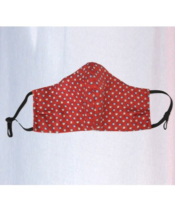 Fine Silk Red Snails Design Face Mask  Washable and Reusable - Made in UK