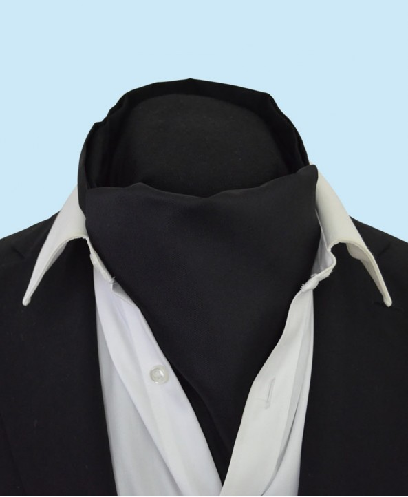 Silk Cravat in Classic Deep Black Colour