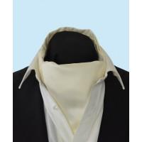 Silk Cravat in Classic Light Cream Colour