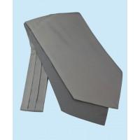 Silk Cravat in Classic Light Grey Colour