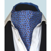 Fine Silk Pine Permutations Paisley Pattern Cravat in Blue