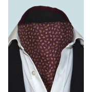 Fine Silk Pine Permutations Paisley Pattern Cravat in Marroon
