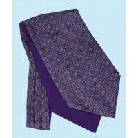 Silk Cravat with Paisley Design in Regal Purple