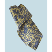 Fine Silk Chinese Dragon Paisley Pattern Hank in Light Yellow