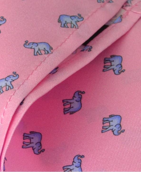 Fine Silk Lucky Elephant Pattern Hank in Pink and Light Blue