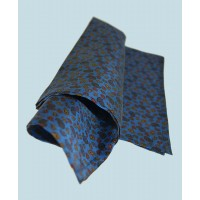 Fine Silk Mini & Micro Paisley Pine Pattern Hank in Blue