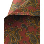 Fine Silk Burmese Coronet Pattern Hank in Red