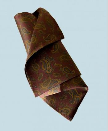 Fine Silk Burmese Coronet Pattern Hank in Wine