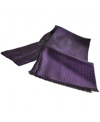 Fine Italian All-Silk Spotted Cravat with White Pin Dots on Purple