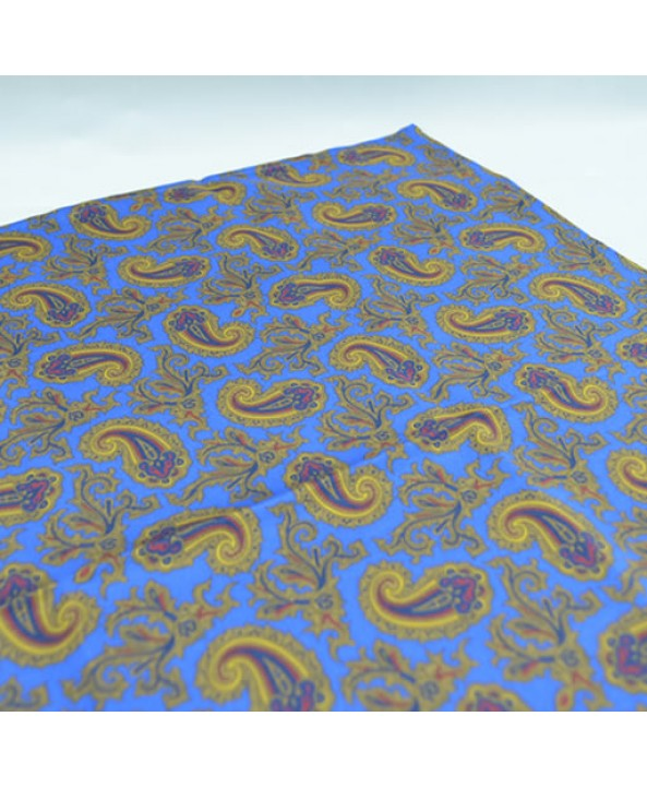Fine Silk Old Master Paisley Pattern Hank in Blue