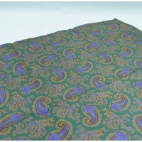 Fine Silk Old Master Paisley Pattern Hank in Green