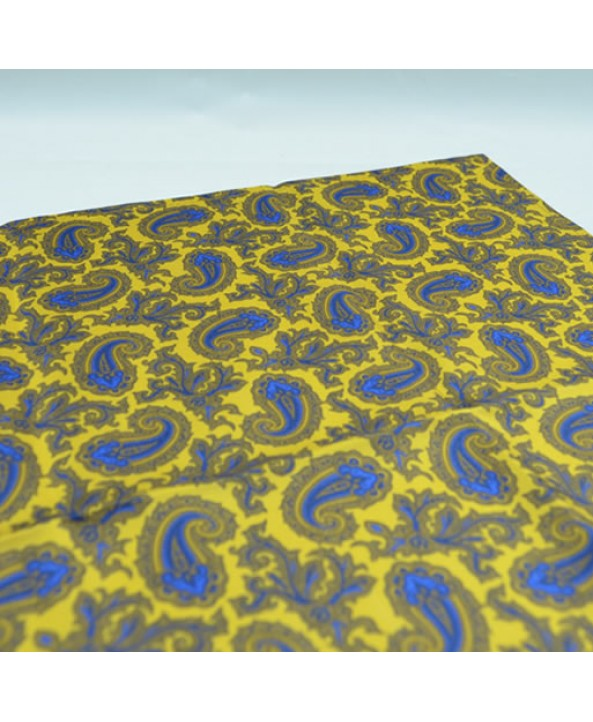 Fine Silk Old Master Paisley Pattern Hank in Yellow
