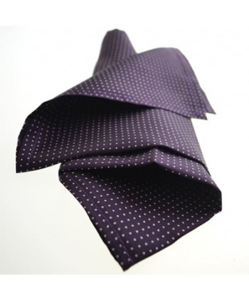 Fine Silk Spotted Hank with White Pin Dots on Aubergine Purple